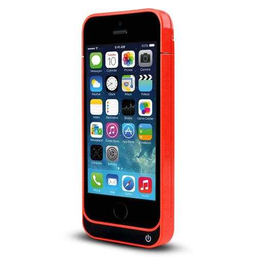 Bright Melon Hard Charging Case w/ Kickstand & Integrated Lightning Port for Apple iPhone 5/5S/5C - 2000 mAh