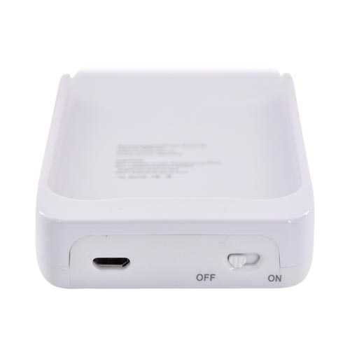 Apple iPhone 4 External Battery Case w/ Data Cable - White (2000mAh)