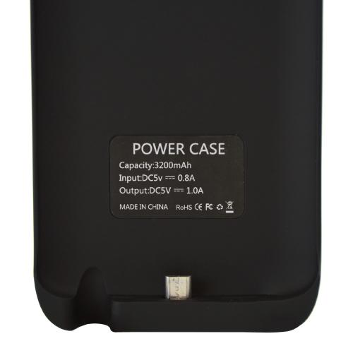 Black Rubberized Hard Charging Case w/ Kickstand for LG G2 (AT&T, T-Mobile, & Sprint) - 3200 mAh