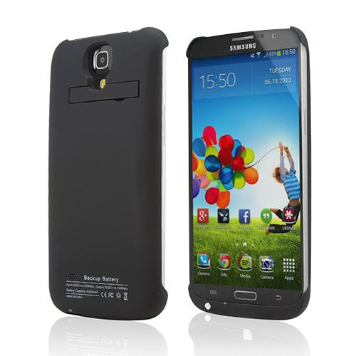 Samsung Galaxy Mega 6.3 Rubberized Hard Charging Case w/ Kickstand [4000 mAh]