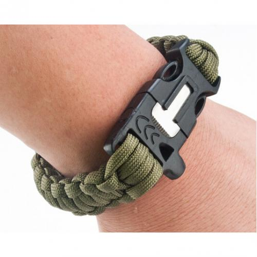 Universal Black Multi-Function 4 in 1 Paracord Bracelet w/ Buckle