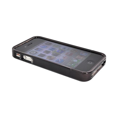 Original Hard Candy Bubble Slider Apple iPhone 4 Hard Case, BS4G-CHR-BLK - Black