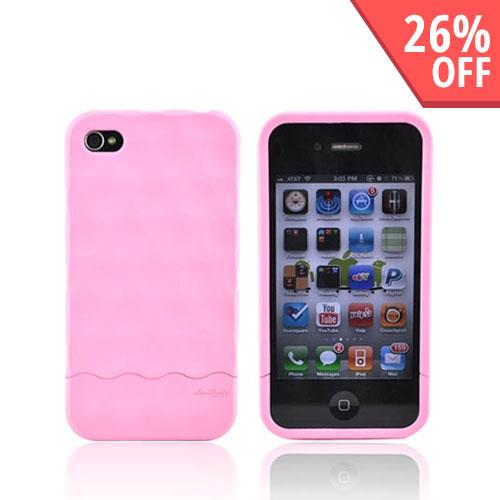 Original Hard Candy Rubberized Bubble Slider Apple iPhone 4 Rubberized Hard Case, BS4G-SFT-PNK - Pink