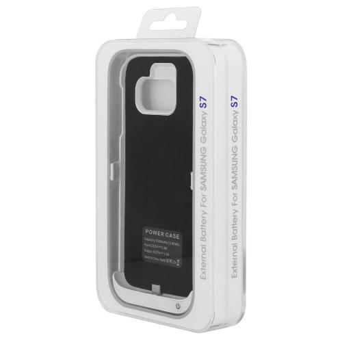 Samsung Galaxy S7 Charging Case, [White] 3200mAh Rechargeable External Power Case w/ Kickstand
