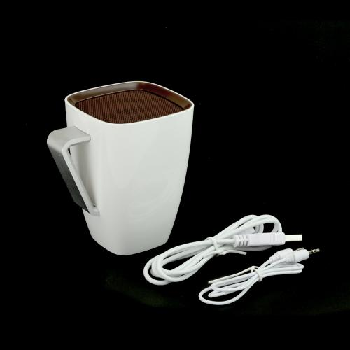 White/ Brown Coffee Cup Universal Portable Bluetooth Speaker