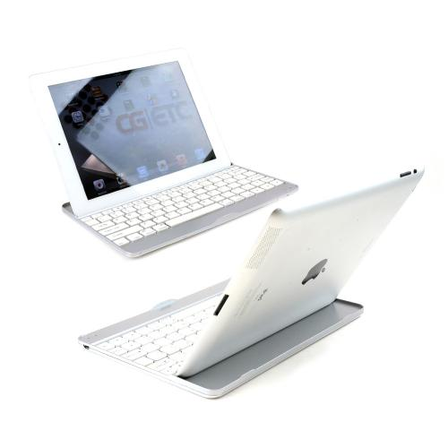 Silver Ultra Thin Aluminum Wireless Bluetooth Keyboard for Apple iPad Air