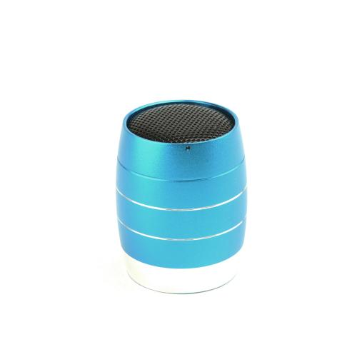Blue Mini Metal Universal Portable Rechargable Speaker w/ Micro SD Port