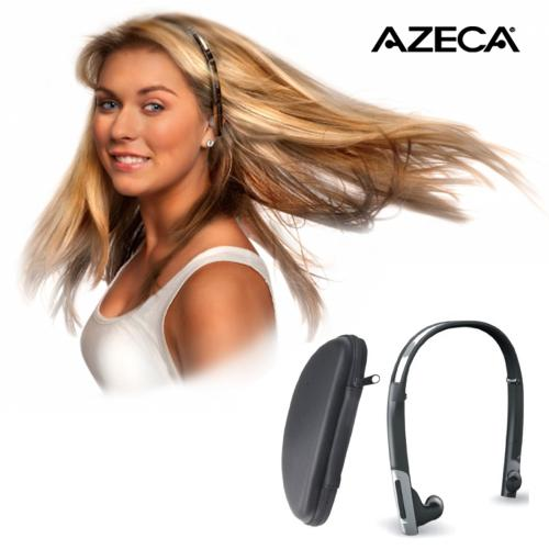 Original Azeca (formerly known as Alva) Universal Bluetooth Stereo Folding Headset w, Carrying Case, BTH010 - Black, Silver