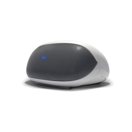 AT&T White/ Gray LoudSpeak'r Universal Portable Bluetooth Speaker w/ Noise Cancelling Mic & Aux Input - BTS01-Wh