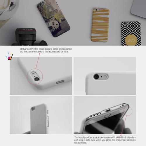 [Burger] Custom Printed Heat Sublimation Design Hard Plastic Case Cover for Apple iPhone 6 w/ Free Screen Protector!