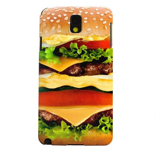 [Burger] Custom Printed Heat Sublimation Design Hard Plastic Case Cover for Samsung Galaxy Note 3 w/ Free Screen Protector!
