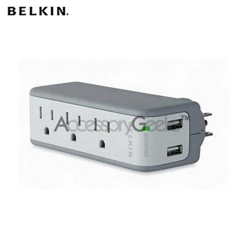 Original Belkin Mini Surge Protector w/ USB Charger (5 Outlets)
