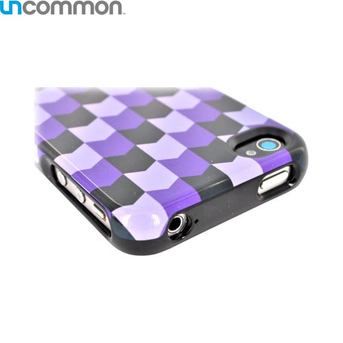 Original Uncommon AT&T/ Verizon Apple iPhone 4, iPhone 4S Slide-On Hard Case - Purple/ Black Arrows