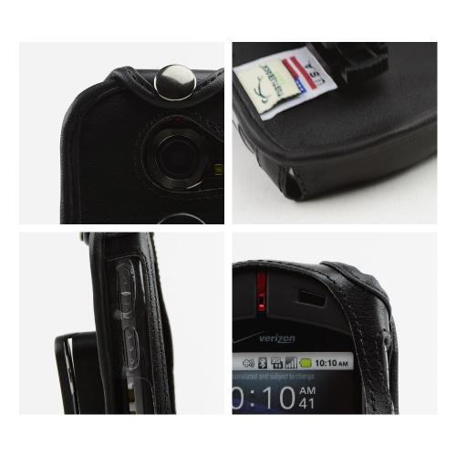 Original Turtleback Casio G'zOne Commando C771 Premium Leather Case w/ Swivel Belt Clip - Black