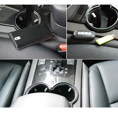 Faux Leather Car Seat Gap Pad with Padding Protective Case and Slot Plug Car Gap Filler [Black] - 2 Pack
