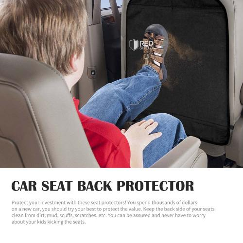 REDshield Auto Car Seat Back Protector Kick Mat [Black]