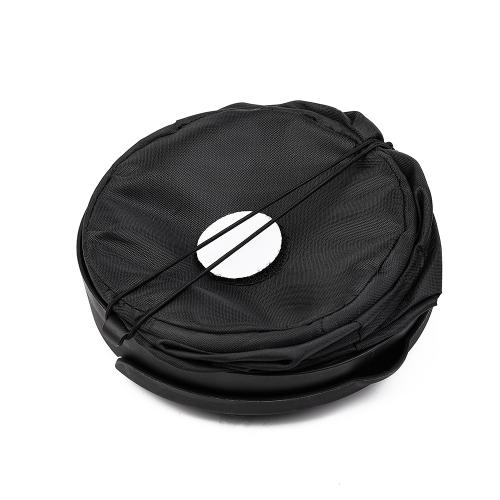 Universal Traveling Portable Collapsible Pop-up Trash Can [Black] - Perfect for Your Car!