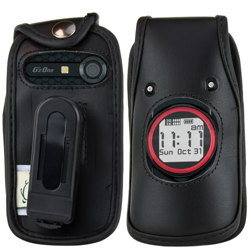 Original TurtleBack Premium Casio G'zOne Ravine C751 Leather Case w/ Swivel Clip - Black