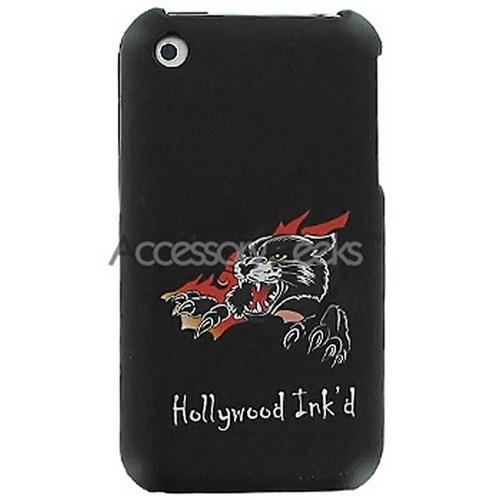 Apple iPhone Designer Rubberized Hard Case - Panther (Black)