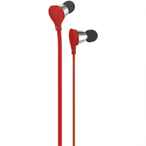AT&T EBM01-RED Jive Earbuds with Microphone (Red)