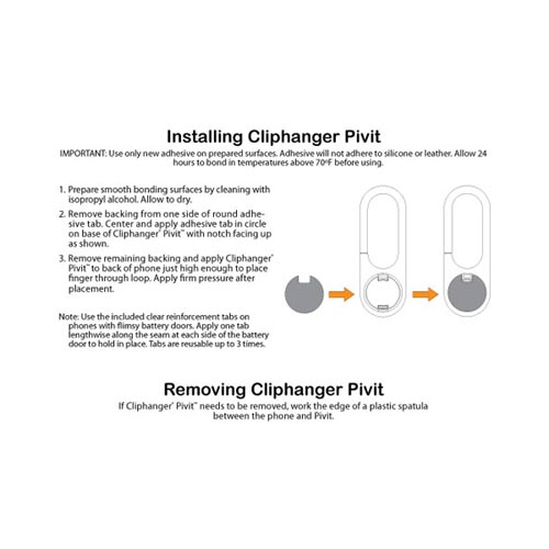 Original ClipHanger Pivit Universal Rotatable Clip - Blue/ Black