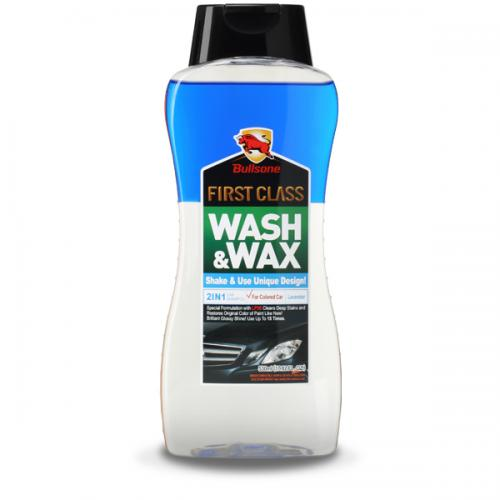 Bullsone First Class Wash & Wax For Colored Cars [Blue] - Cleans & Shines At The Same Time!