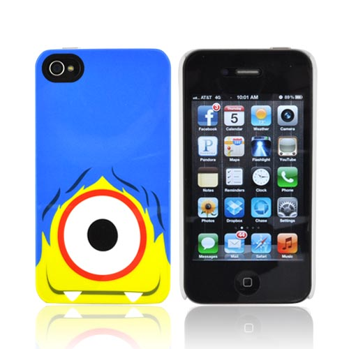 Original Psyclops AT&T/ Verizon Apple iPhone 4, iPhone 4S Ike Hard Case - Blue Haired Green Cyclops