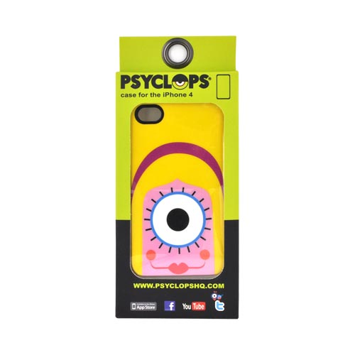 Original Psyclops AT&T/ Verizon Apple iPhone 4, iPhone 4S Coco Hard Case - Yellow Haired Pink Cyclops