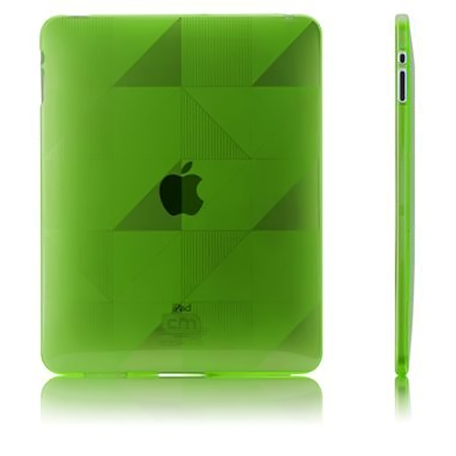 Case-Mate Transparent Green Gelli Series Triangle Design Crystal Silicone Skin Case for Apple iPad (1st Gen) - CM011192