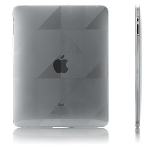Case-Mate Transparent Smoke Gelli Series Triangle Design Crystal Silicone Skin Case for Apple iPad (1st Gen) - CM011196