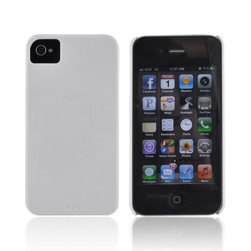 Original Case-Mate AT&T/ Verizon Apple iPhone 4, iPhone 4S Barely There Hard Case, CM015559 - Solid White