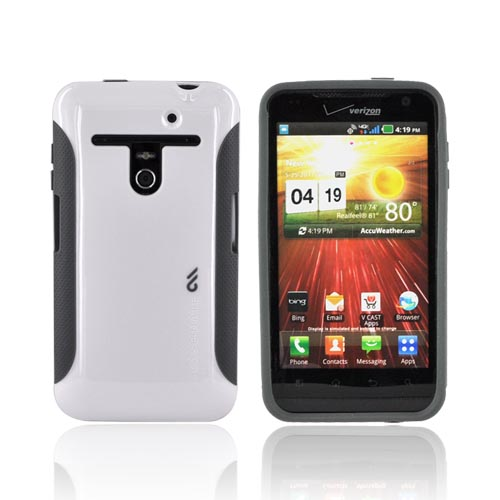Original Case-Mate LG Revolution, LG Esteem Pop! Hard Case, CM015966 - White/ Gray