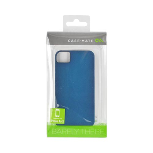 Original Case-Mate AT&T/ Verizon Apple iPhone 4, iPhone 4S Barely There Rubberized Hard Case, CM016447 - Teal