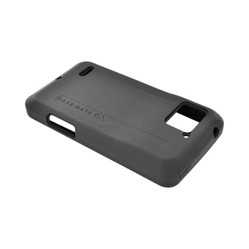 Original Case-Mate Motorola Droid Bionic XT875 Tough Hard Rubberized Hard Case on Silicone, CM016589 - Black