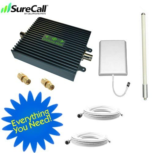 Cellphone-Mate SureCall™ Dual Band Signal CM2000-WL55dB SOHO Amplifier Kit for Boats - MARINE
