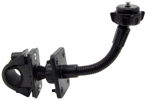 "Arkon Black Moto Handlebar Mount w/ 1/4"" - 20 Camera Adapter (GN032-SBH-AMPS + GN007 + SP-1420CAM + SP-SB-RING)"