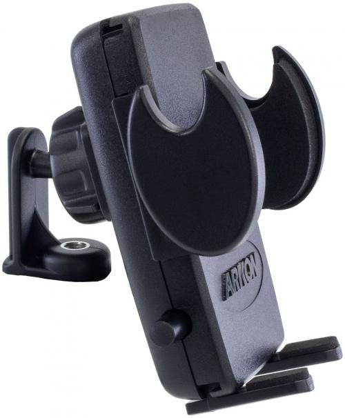Arkon Black Mega Grip Tripod Attachment Smartphone Holder (SM040-2 + AP142017MM + SP-SB-RING + SP-SB-2T)