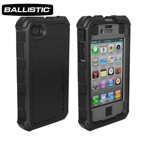 Ballistic Apple iPhone 4/4S HC Hard Case Combo w/ Holster & Built-In Screen Protector - Black/ Gray [OPEN BOX]