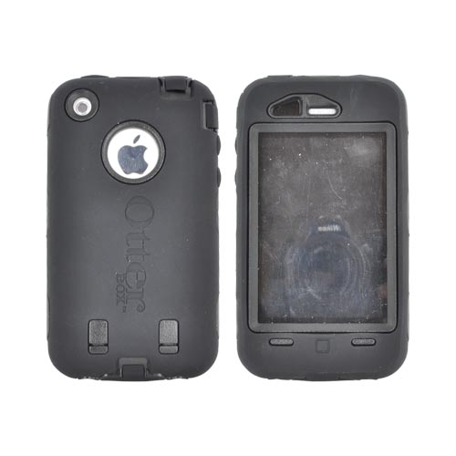 Original Otterbox Apple iPhone 3G 3GS Defender Series Silicone on Hard Case w/ Built-In Screen Protector & Holster - Black [OPEN BOX]