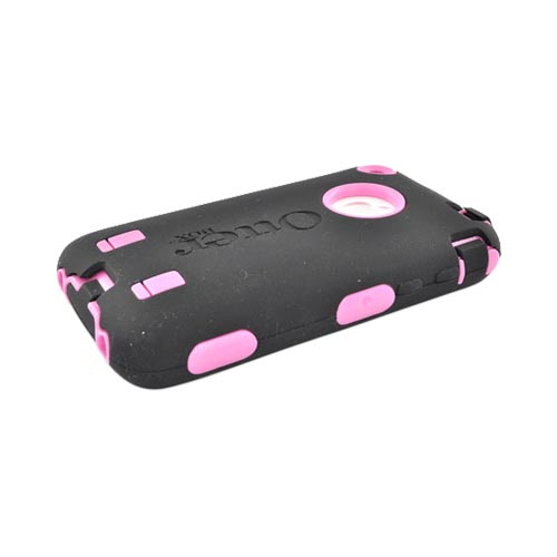 Original Otterbox Apple iPhone 3G 3GS Defender Series Silicone on Hard Case w/ Built-In Screen Protector & Holster - Pink/ Black [OPEN BOX]