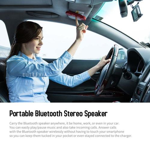 Portable Wireless Bluetooth Stereo Speaker, [JET Black] Universal 3-in-1 Support for [Call / Music / PTT] Built-In Magnetic Attachment w/ Noise Cancellation and Superior Sound Quality  - includes Bike Mount, Sun Visor Clip, & Outdoor cradle