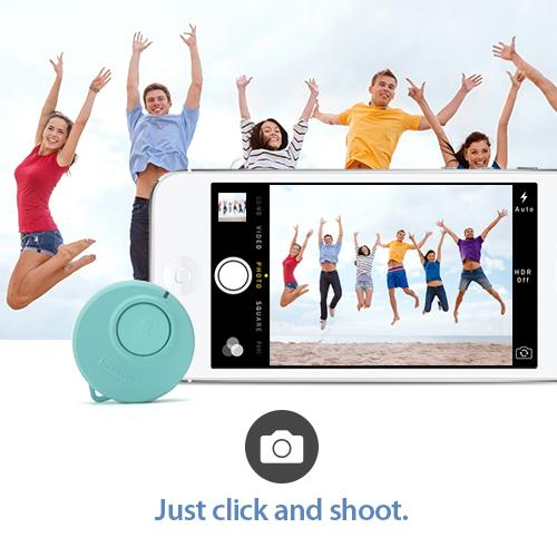 Light Mint CODAClick One-Buttoned Bluetooth Smart Remote for both Apple & Android - Take the Perfect Selfie!