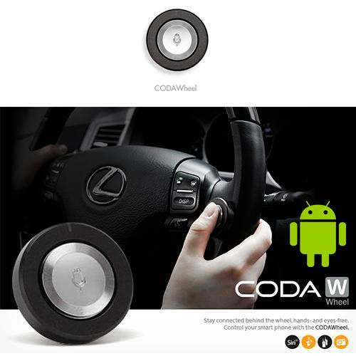[Codawheel] Wireless Bluetooth Car Remote Control For Android Devices (samsung, Lg, Htc, Motorola, Sony, Nokia, Sharp)