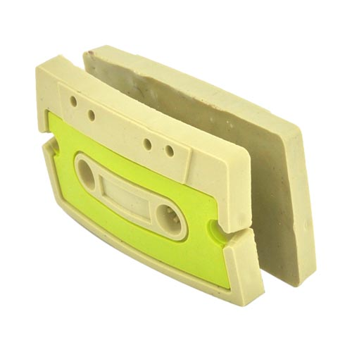 Headset Cord Wrapper - Green,Tan Cassette Tape