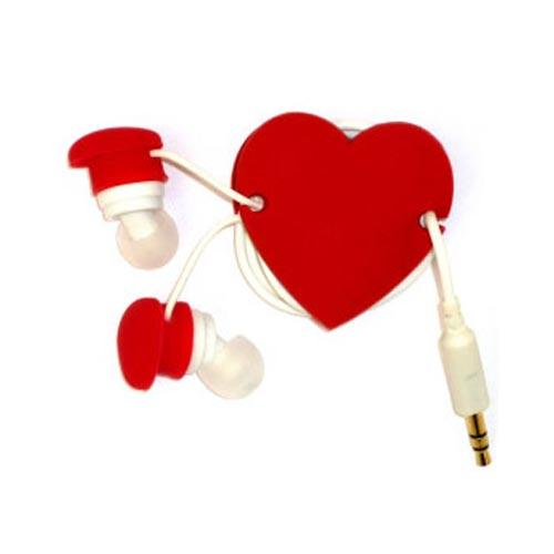 Universal Headset Cord Wrapper - Red Heart