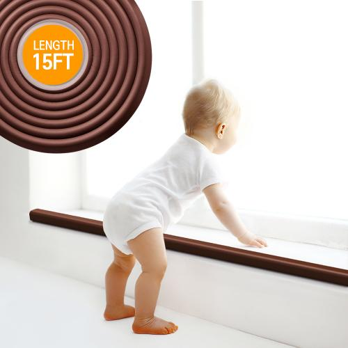 Baby Safety Corner Guard, Eutuxia® [15ft] Extra Thick w/ Bonus 4 Edge Protectors - 2PK
