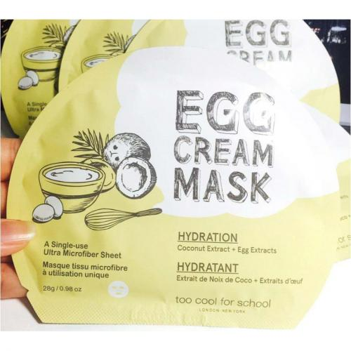 [TOO COOL FOR SCHOOL] Egg Cream Mask Hydration X 5 pack