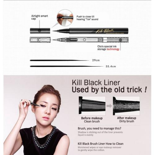 [CLIO] Waterproof Pen Liner - Kill Black/001, 0.02 Ounce