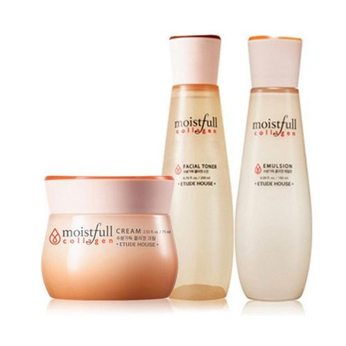 [ETUDE HOUSE] Moistfull Collagen Special Set (Facial Toner 200ml + Emulsion 180 ml + Cream 75 ml)