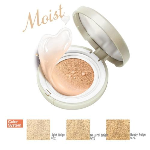 [ETUDE HOUSE] Precious Mineral Moist Any Cushion - SPF 50+/PA+++, 15g (Honey Beige)